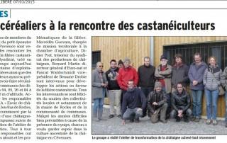 20150307 Le Dauphiné Libéré - Viste chez les castanéiculteurs